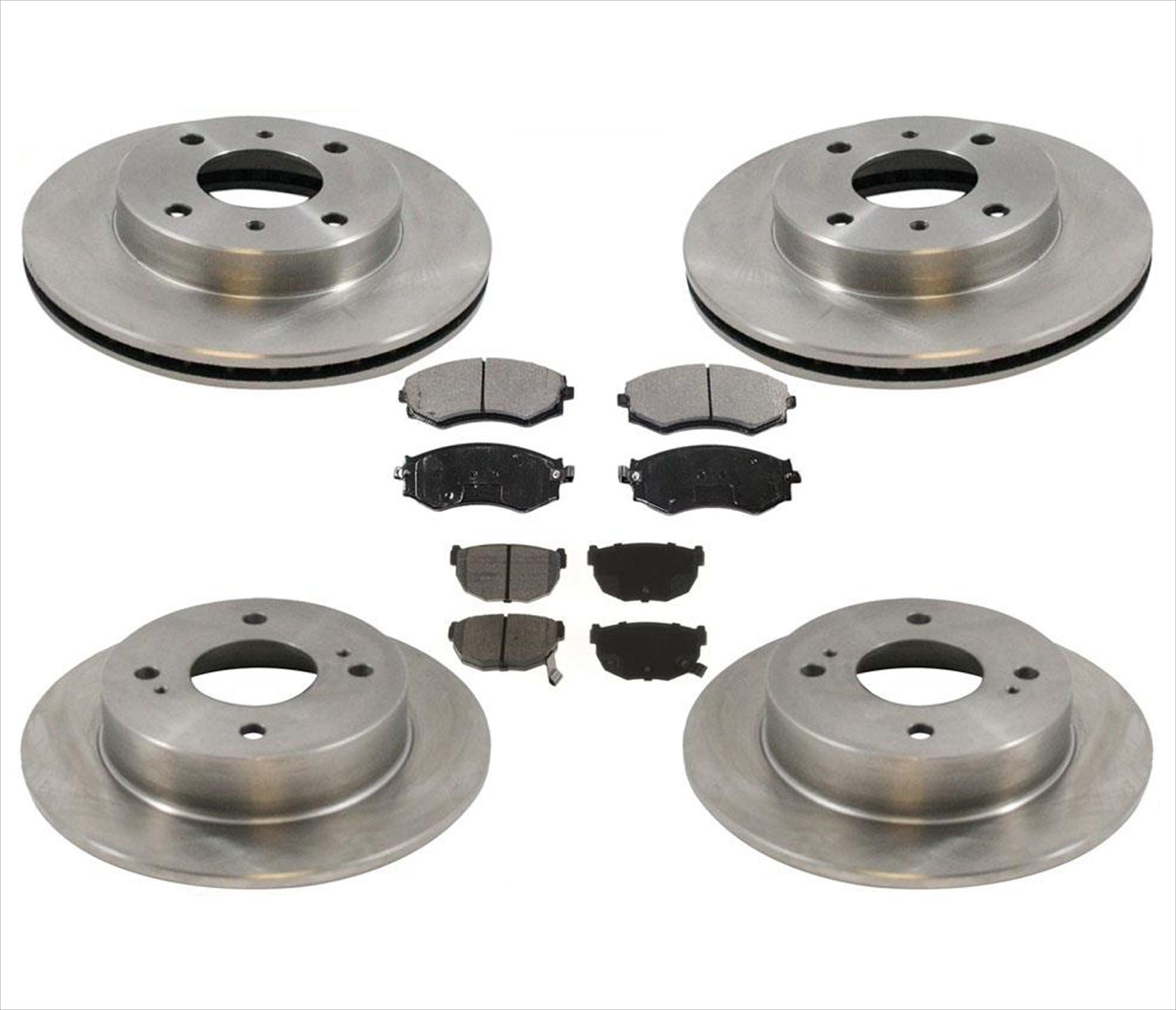 Front Drilled And Slotted Brake Rotors For Nissan 240SX Sentra ...