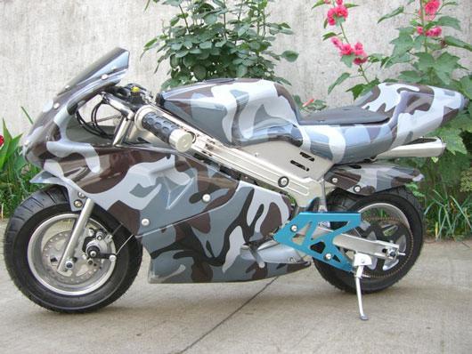 Nw 49cc Gas Pocket Rocket Giovanni Mini Bike Urban Camo Pocket