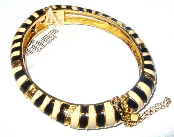 black and white j crew bangle