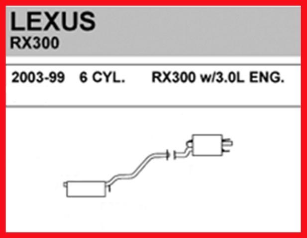 1999-2003 Lexus RX300 Exhaust Muffler System Walker