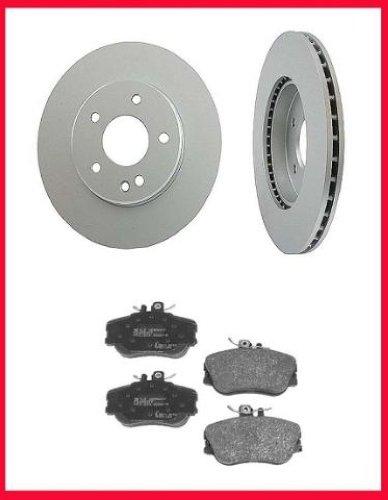 1994 1996 mercedes c220 c280 front brake rotors pads ebay. Black Bedroom Furniture Sets. Home Design Ideas