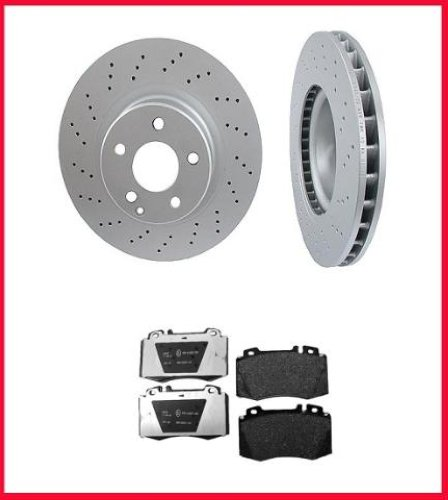 2000 2002 mercedes s430 s500 front brake rotors pads ebay for Mercedes benz rotors and pads