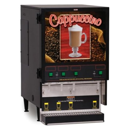 bunn 4 flavor cappuccino hot chocolate machine new ebay. Black Bedroom Furniture Sets. Home Design Ideas