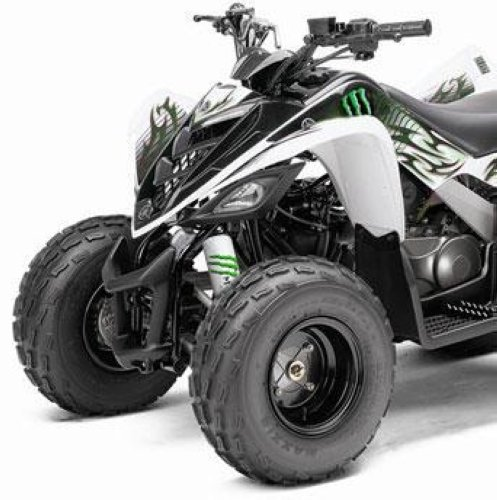 White shock covers yamaha youth grizzly raptor yfm 50 80 for Yamaha grizzly 50