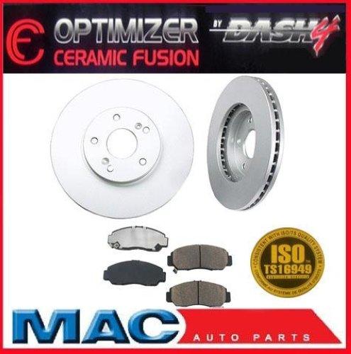 2009 2010 Acura TSX Front Brake Rotors & OPTIMIZER Ceramic