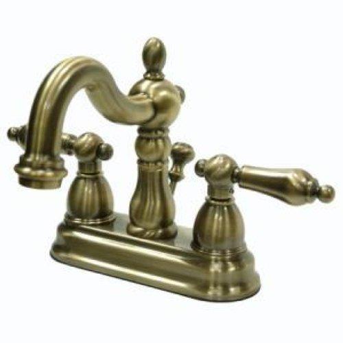 4 Centerset Bathroom Sink Faucet Vintage Antique Brass Kingston