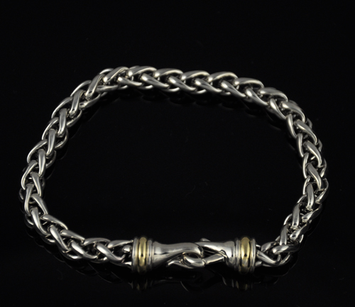 david yurman 6mm 7 5 quot inch wheat bracelet ebay