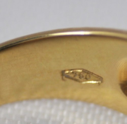 Vintage Lani Fratelli Malachite Diamond 18k Gold Ring Ebay