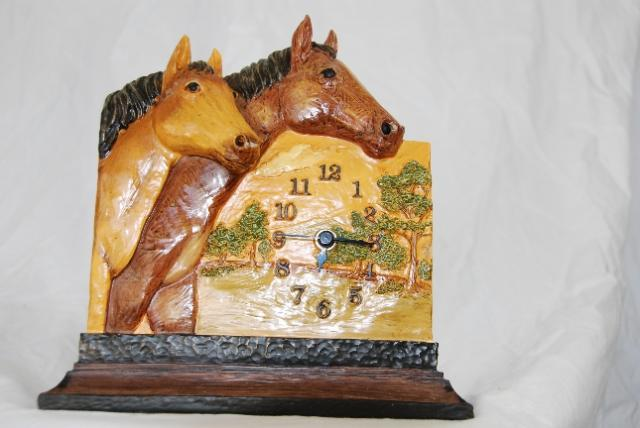 NEW Figi Home Decor Horloge Horse Clock Western Equestrian