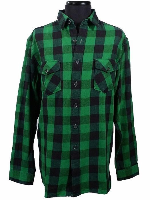 Nwt polo ralph lauren xxl green black buffalo check for Buffalo check flannel shirt jacket