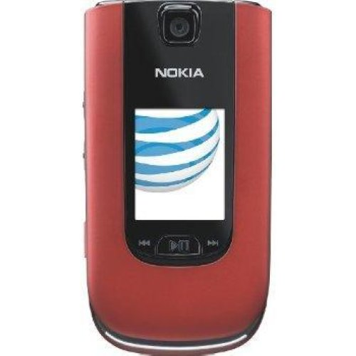 At Amp T Nokia 6350 Red Simple Easy Basic Flip Phone No ...