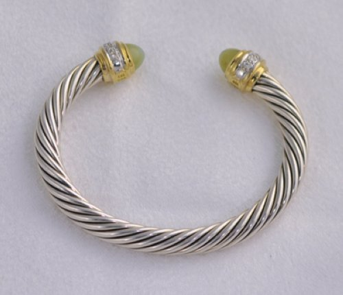 David Yurman Opal Diamond Cable 7mm Bracelet Ss Cuff Ebay