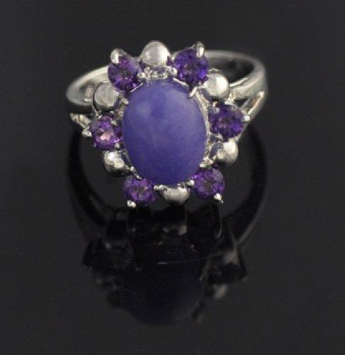 Lavender Jade Purple Amethyst Sterling Silver 925 Ring Ebay