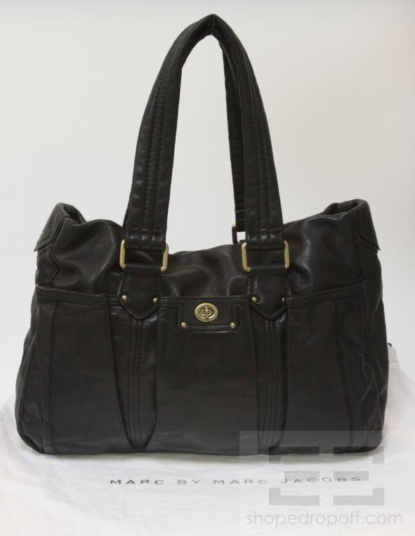 marc by marc jacobs black totally turnlock diaper bag ebay. Black Bedroom Furniture Sets. Home Design Ideas