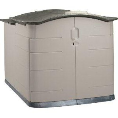 Rubbermaid Slide Lid Storage Shed 3752 Grey Roof 92