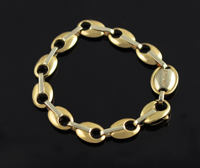 baraka bracelet 14k yellow gold white gold links bracelet