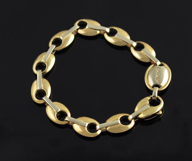 Details About Baraka Bracelet 14k Yellow Gold White Links