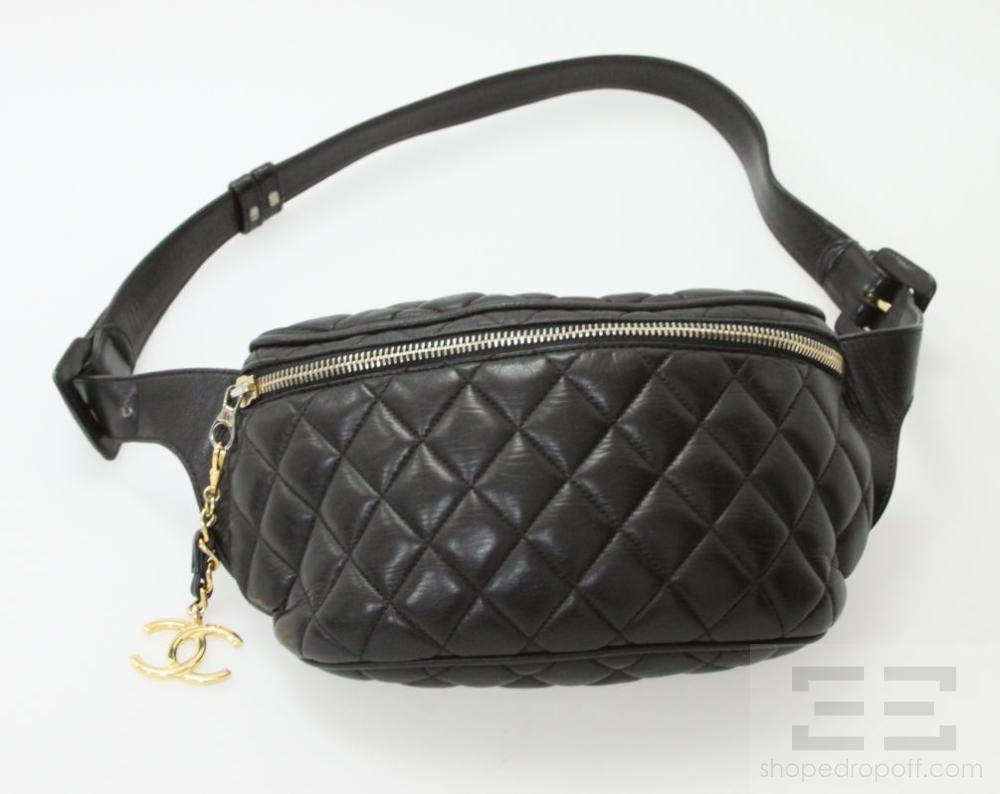 d896ddc707f071 Chanel Waist Bag Quilted Black | Stanford Center for Opportunity ...