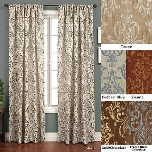 ... Crinkle Jacquard Taupe Gold 120 Inch Curtain Panel Home Decor | eBay
