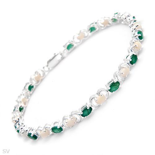 Sterling Silver Genuine Opal Green Emerald Bracelet. Bezel Set Diamond Pendant. Emerald Infinity Band. Music Diamond. Solid Bangle Bracelets. Silver Ankle Bracelet. Polish Engagement Rings. Meaningful Necklace. Mens Silver