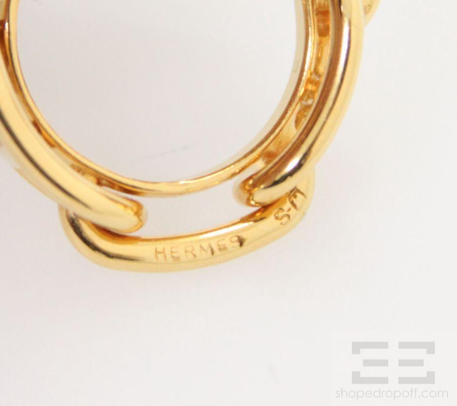Hermes Gold Regate Scarf Ring  eBay Hermes Scarf Rings