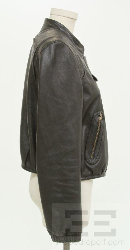 RUSTON JACKET In Textured Leather Antique Bronze Black Friday Sale
