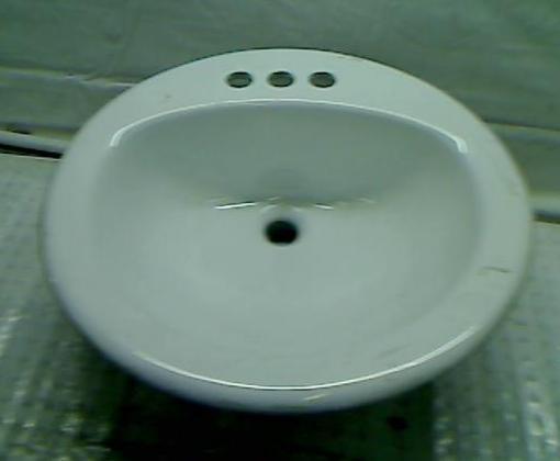 Details about Glacier Bay Aragon Drop-in Bathroom Sink in White