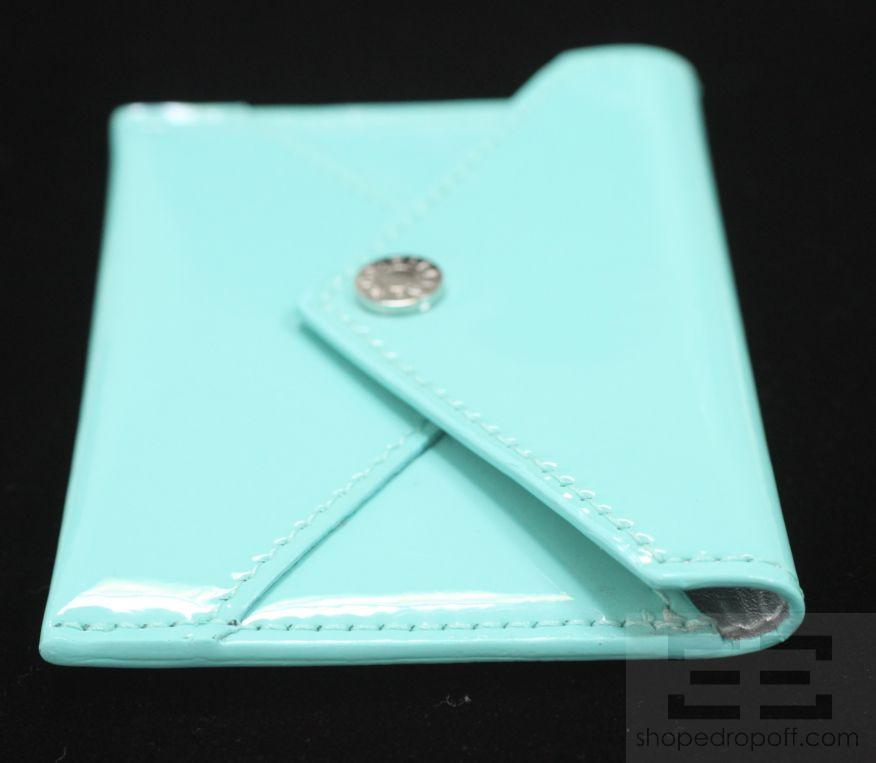 Tiffany co tiffany blue patent leather small envelope for Tiffany business card case