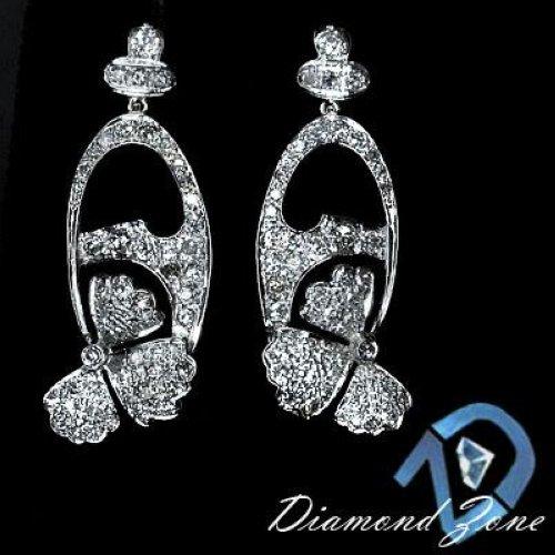 Mens Fashion  1900 1910 on 80ct Diamonds Vs 1910s Vintage Platinum Antique Earrings 15 3 Gram