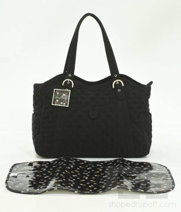 vera bradley black quilted diaper bag new. Black Bedroom Furniture Sets. Home Design Ideas