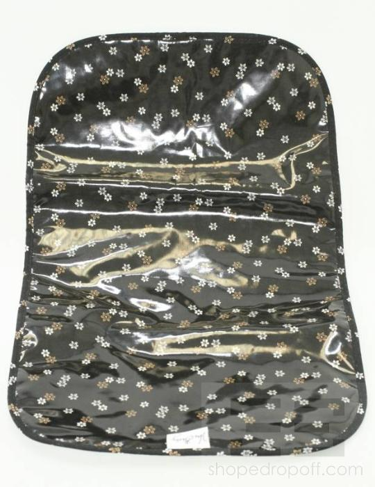 Vera Bradley Black Quilted Diaper Bag New