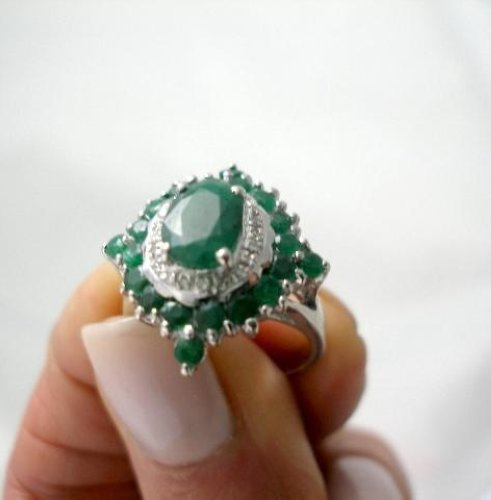 Image Result For Genuine Emerald Rings Ebay