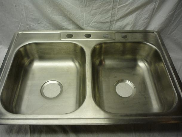 glacier bay top mount 32 7 8 in x 21 7 8 in double bowl kitchen sink