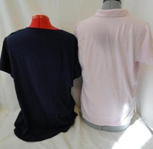 Lot of 2 Hanes St Johns Bay Womens Clothing Tops Classic Fit Polo X