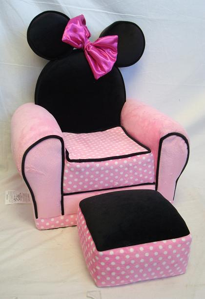 Minnie Mouse Chair And Ottoman pink toddler chair kid disney minnie ...
