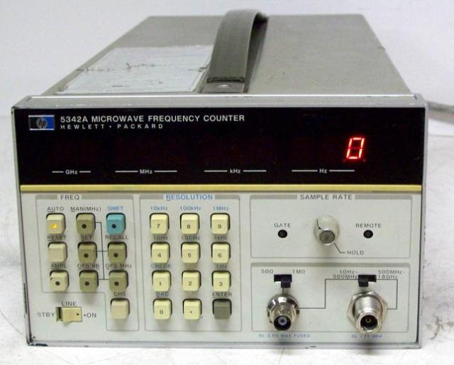 Agilent Frequency Counter : Agilent hp a mhz ghz microwave frequency counter