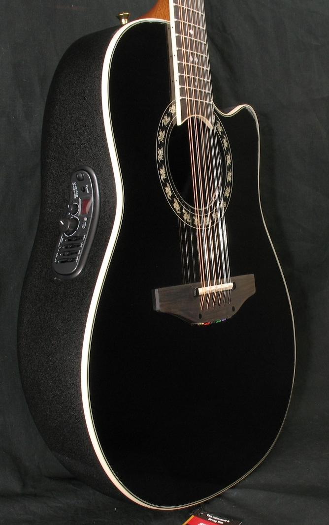 new ovation legend 2056ax 12 string acoustic electric guitar black ebay. Black Bedroom Furniture Sets. Home Design Ideas