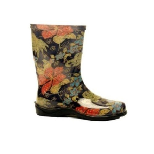 Excellent  Boots With Fur Bow Lace Up Women Water Shoes Rainboots Garden Boots