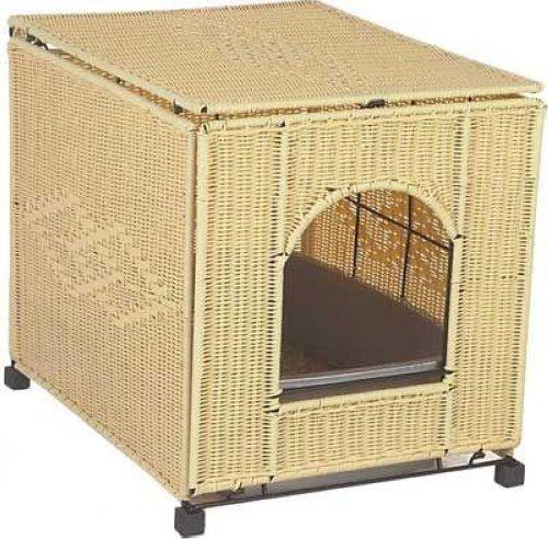 mr herzher 39 s cat litter box cover in natural wicker ebay. Black Bedroom Furniture Sets. Home Design Ideas