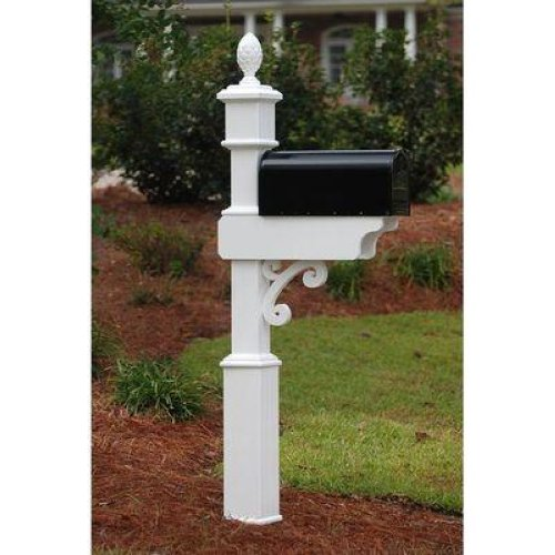 Fancy home products mailbox post decorative mail box stands mbp 4 02 a ebay - Unique mailbox ideas for your home ...