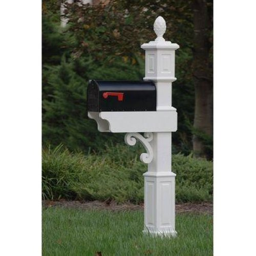 Mailbox Stand Designs : Fancy home products mailbox post decorative mail box stand