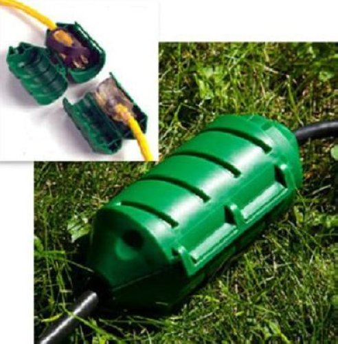 farm innovators cc 2 cord connect water tight extension cord cover green ebay. Black Bedroom Furniture Sets. Home Design Ideas