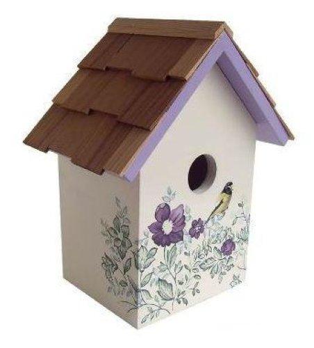 home bazaar printed standard birdhouse anemone decorative
