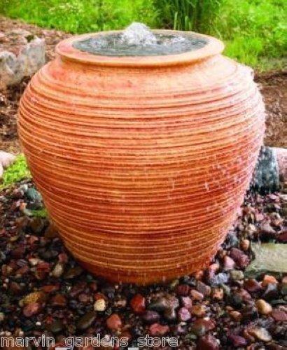 Ceramic Pot Fountains: CERAMIC URN BUBBLER DECORATIVE WATER FOUNTAIN