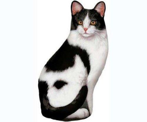 Fiddlers elbow black white cat doorstop decorative door stop fe71 ebay - Cat door stoppers ...