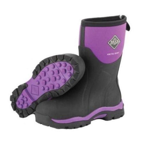muck boot arctic sport mid boots womens purple boots sizes