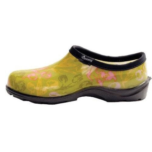 SLOGGERS TULIP GREEN PRINTED SLIP ON GARDEN SHOES WOMENS SIZES 6-11 | EBay