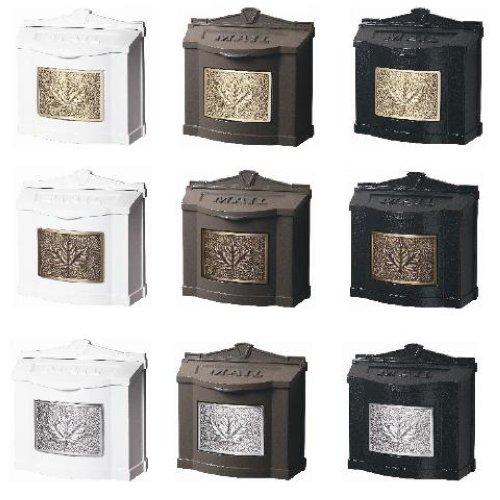 dark bronze wall mount mailbox locking mail box leaf variations whitehall lowes