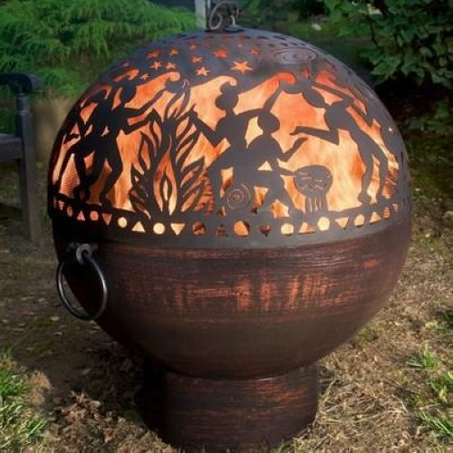 Good Directions Fire Bowl With Full Moon Party Fire Dome
