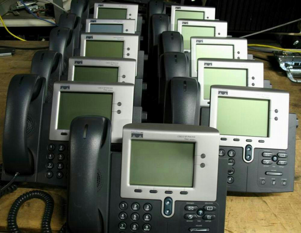 Details about Cisco CP-7941G CP7941G 2 Button SCCP VoIP PoE Phone Stand  HandSet SIP Avaible